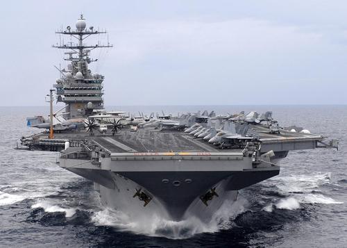 Peluru Kendali Syiah Iran Nyaris Ledakkan Kapal Induk AS