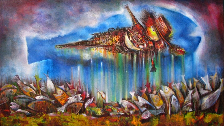 pintura-al-oleo-con-peces