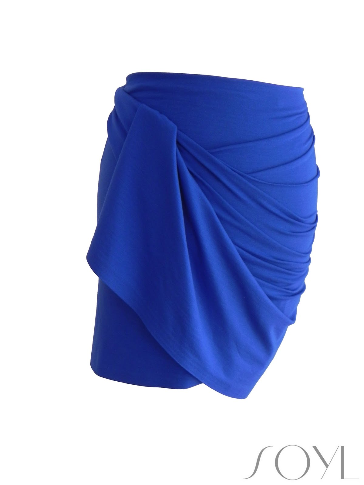 pleated friederich draped blue skirt asymmetrical products green drapes ara azure