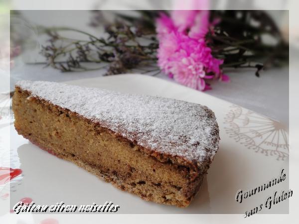 Gâteau citron noisettes sans gluten