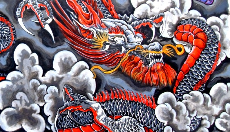All about tattoos and ink dragon and wolf tattoo meaning for Dragon and wolf tattoo