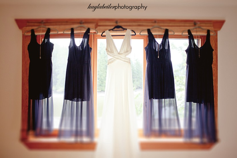 bridesmaids dresses hanging photo