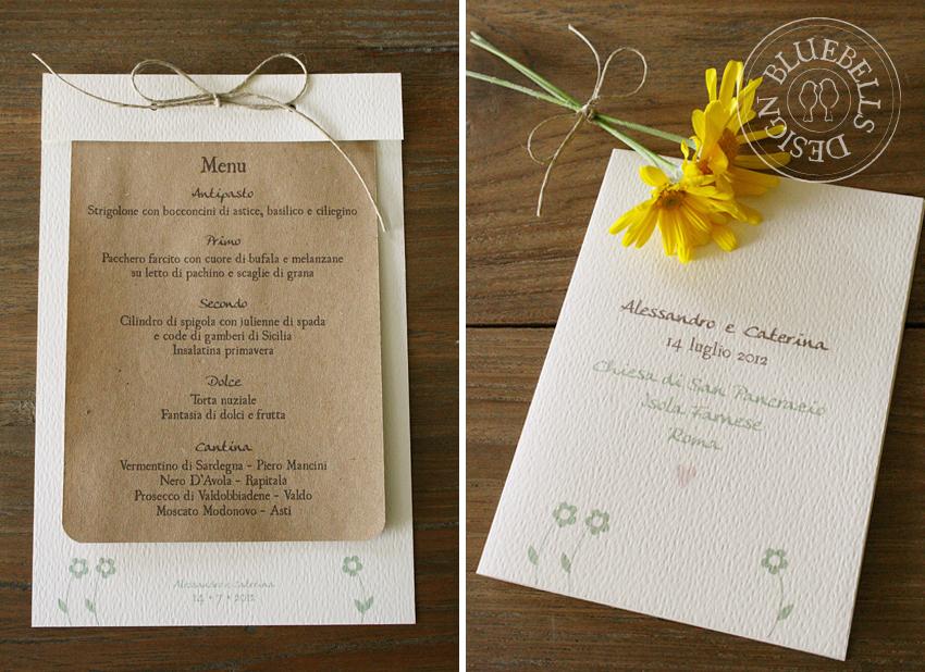 Menu Matrimonio Country Chic : Bluebells design wedding suite un matrimonio country