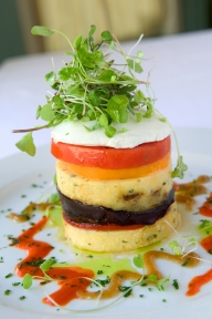 Polenta Stack at Lahain Grill