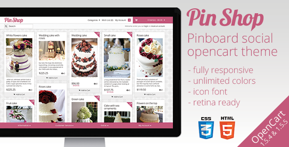 ThemeForest - PinShop - Infinite OpenCart Theme