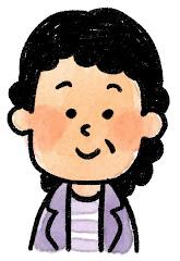 おばさんの表情のイラスト(通常)