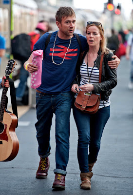 damonalbarn2012, damon albarn girlfriend, damon albarn candid, damon albarn africa express, 2012 blur