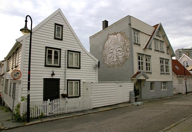 Street Art Portrait By Vhils For Nuart Festival 2013 In Stavanger, Norway. 2