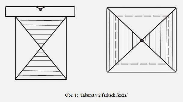 dizajn taburet v dvoch farbách