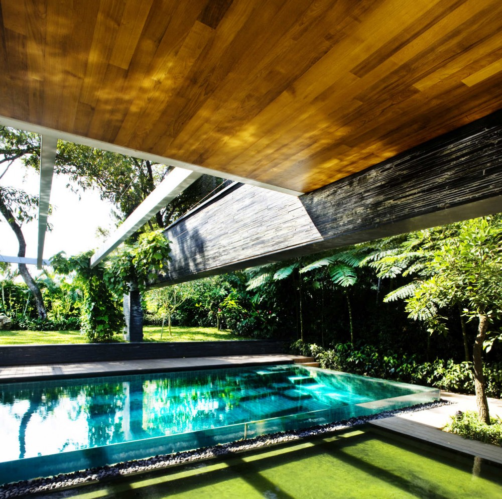 Luxury sustainable green roof house design singapore Architecture nature