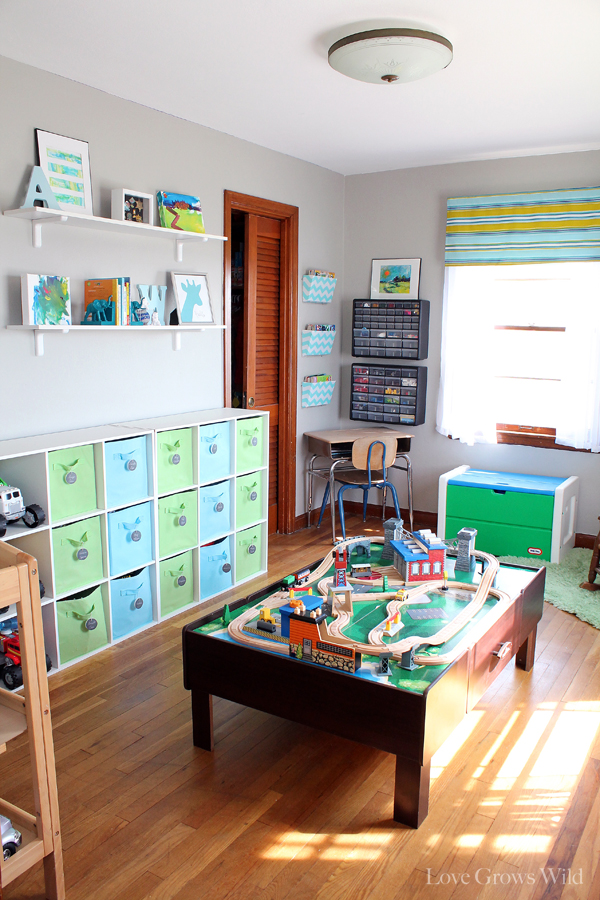 Playroom makeover room reveal love grows wild for Organized kids rooms