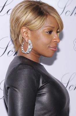 Mary J Blige Diamond Hoop Earrings