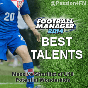 Football Manager 2014 Best Young Talents