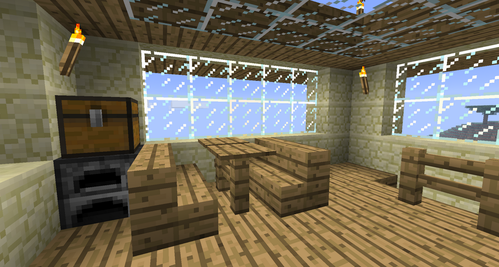 That 39 s interesting inside my minecraft home for Dining room minecraft