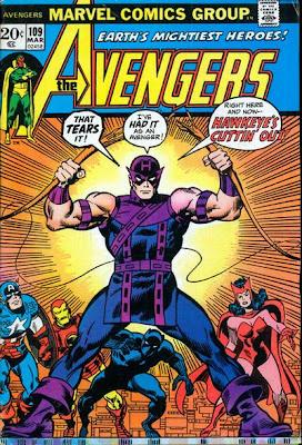 Avengers #109, Hawkeye quits