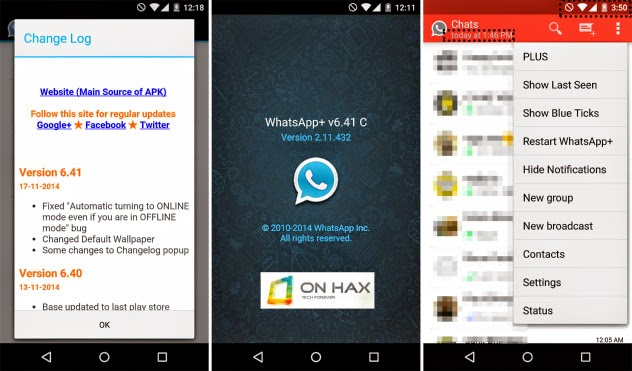 Whatsapp+ 6.41C Cracked Patched Apk Download (Hide Last Seen Online Status No Root Required)