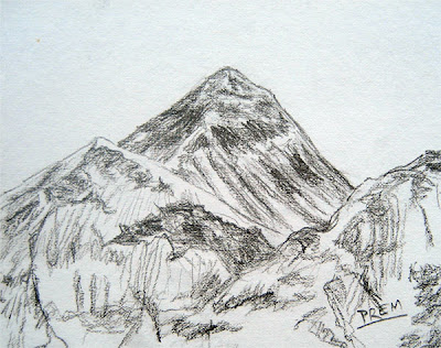 Sketch of Mt. Everest