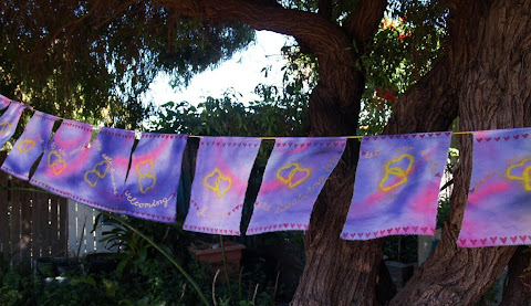 Heart prayer flags