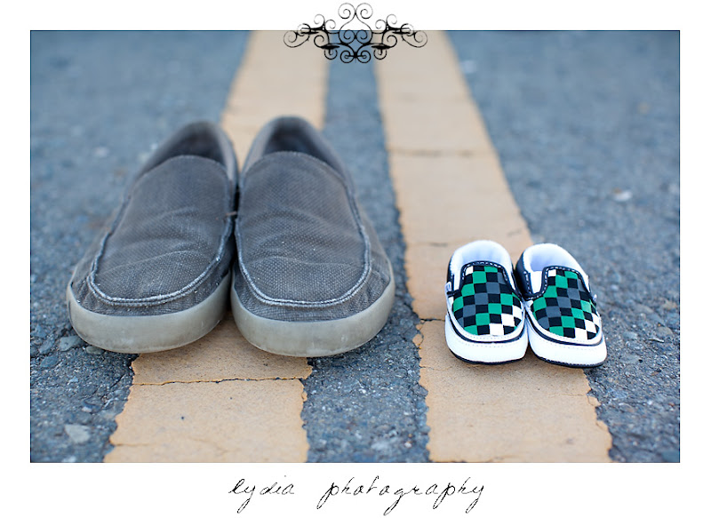 Lifestyle maternity portraits with mini Vans at William Jessup University in Rocklin, California