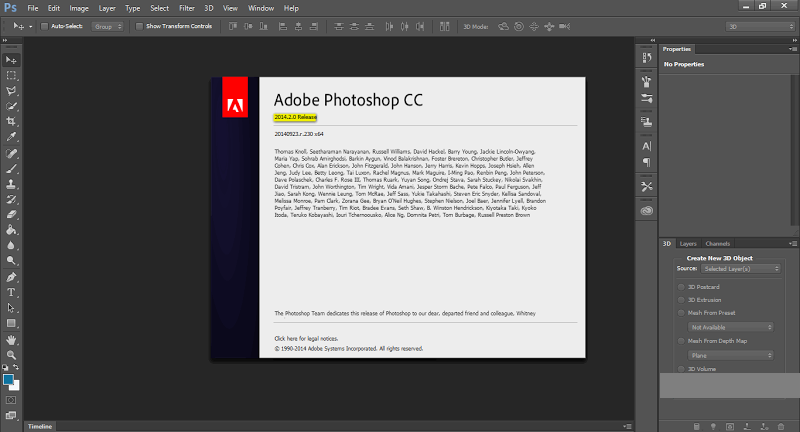 Adobe Photoshop CC 2014 Final Full Version 15.2 32bit / 64bit