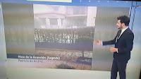 La fuerte granizada en las Noticias 1 de TVE