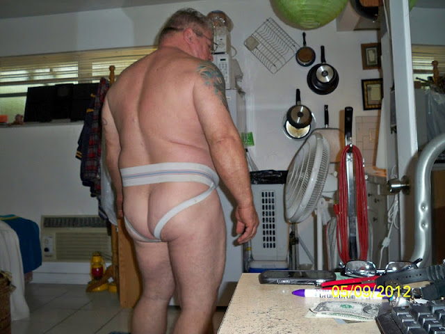 BearJock_4 Big Hairy Daddy Bear in Dirty Jockstrap