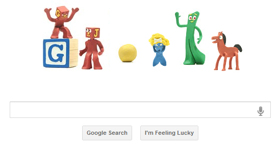 Art Clokey, Art Clokey's 90th Birthday, Google Doodle, commemorate, Google Logo
