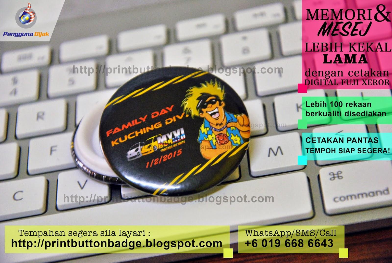 Tempahan Button Badge Murah