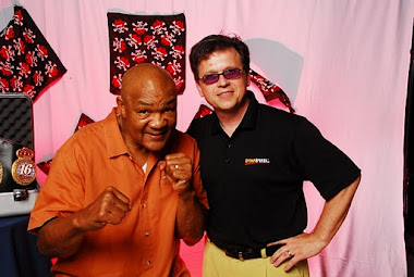 robert margetts with george foreman dominican republic