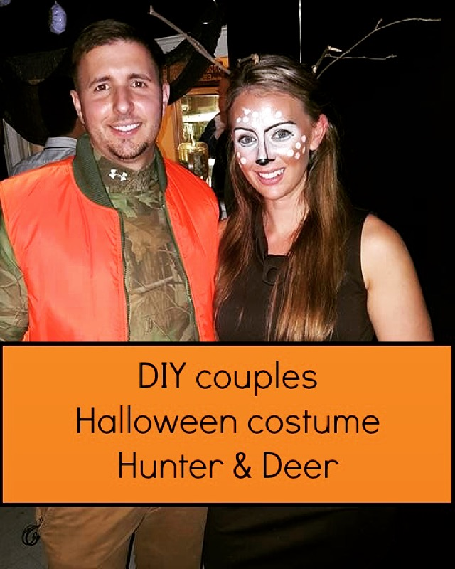 cheap diy deer and hunter couples halloween costume