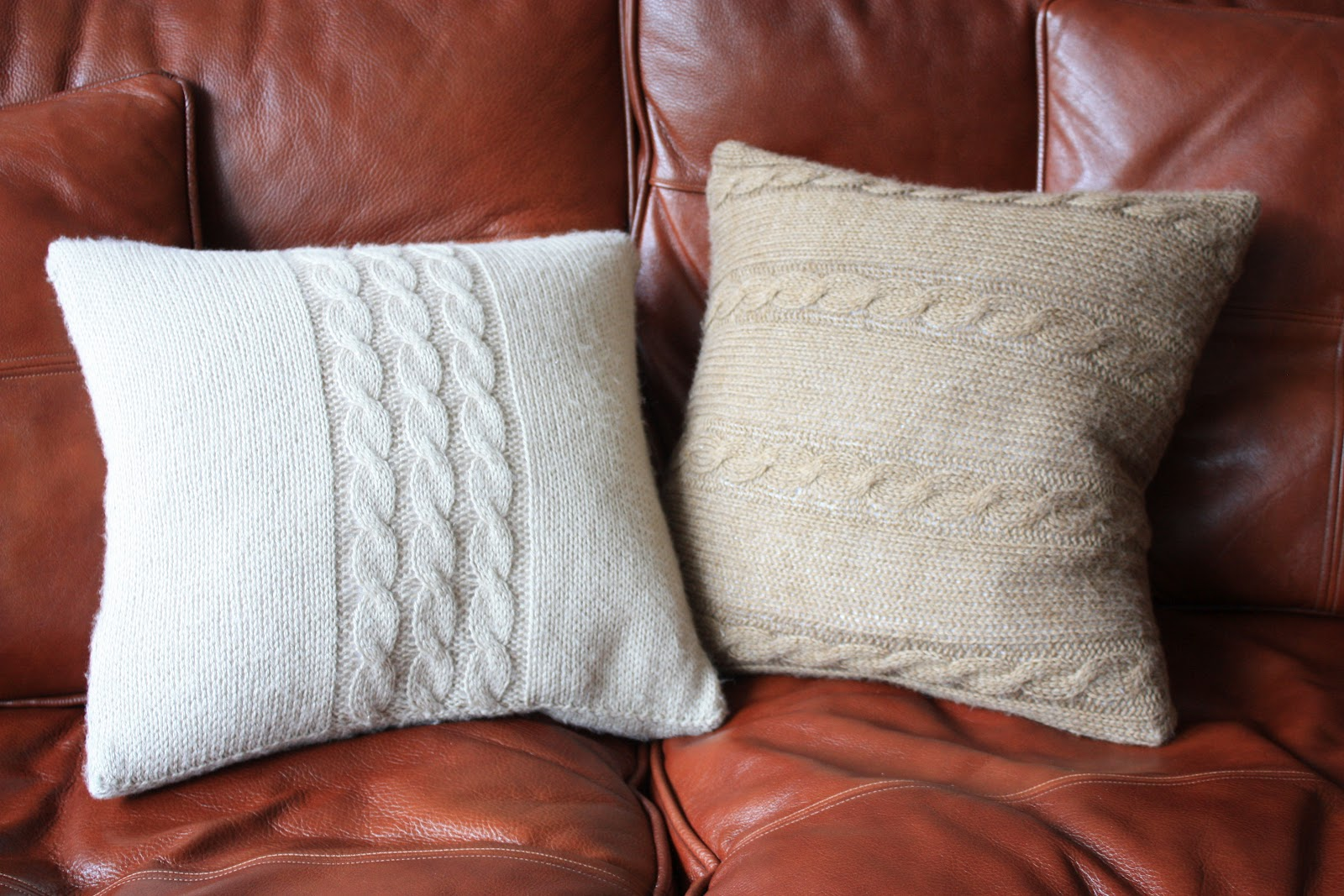 how to make a knitted cushion cover