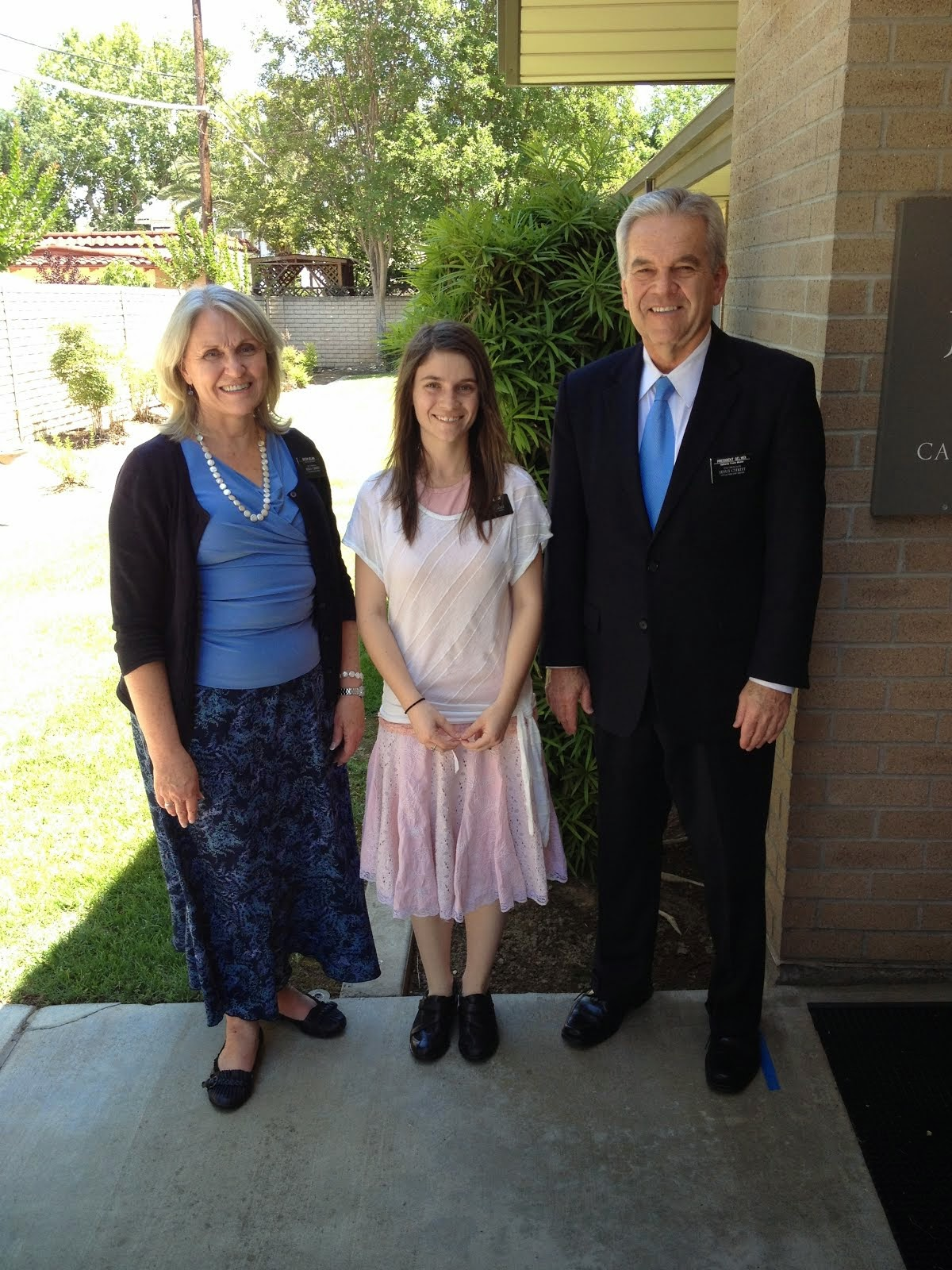 Abby with her Mission President and his wife