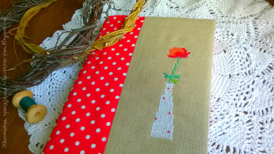 маленькая вышивка крестиком весна цветы