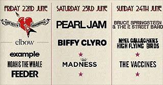 Tom Petty, Bruce Springsteen o Pearl Jam al Isle Of Wight Festival
