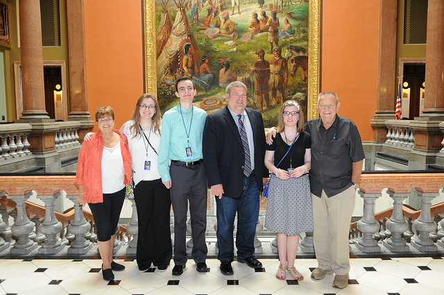 Illinois state representative charlie meier may 2015 the clark triplets meet with representative meier as page for the day alongside their grandparents publicscrutiny Images