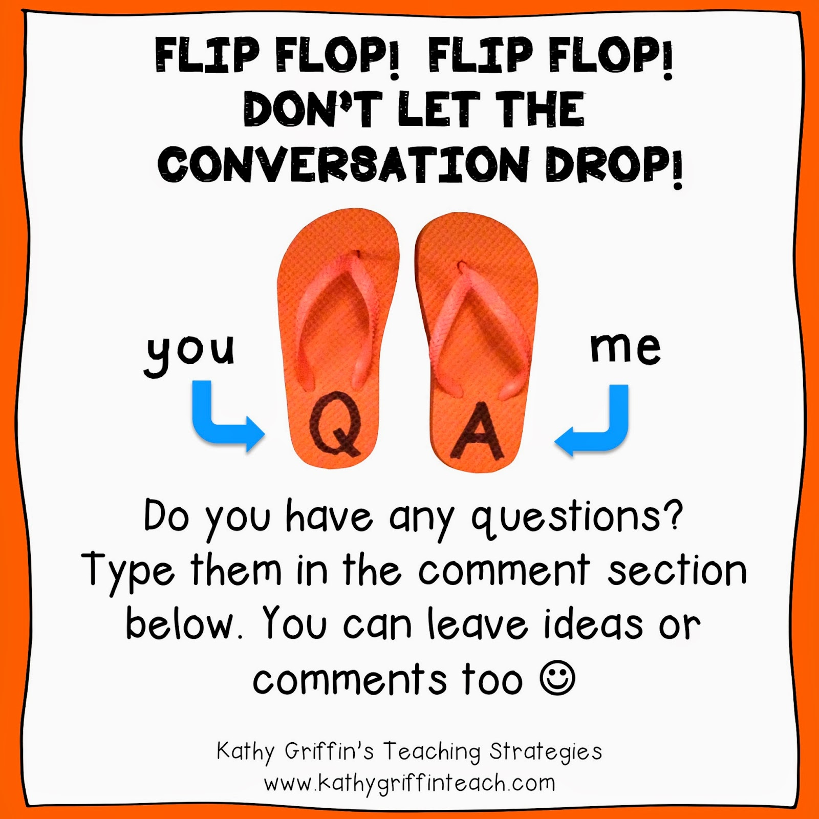 kathy griffin s teaching strategies teaching students to ask and if you liked this blog post please consider following me on face book or teachers pay teachers you can also sign up by email to receive