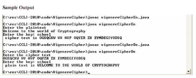 java code for vigenere cipher