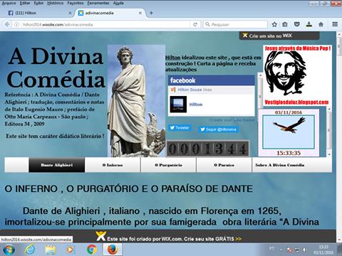 """""""A DIVINA COMÉDIA"""" RESUMIDA EM SITE"""