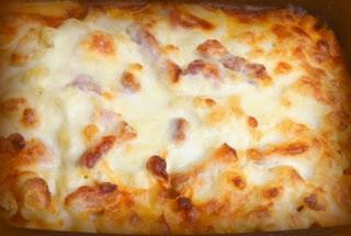 Pasta italiana gratinada