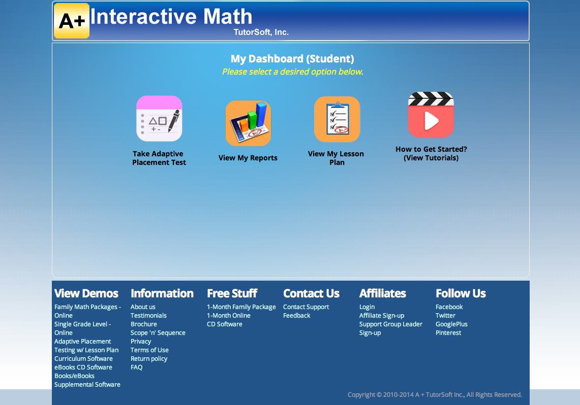 A Learning Journey: TOS Review: A+ Interactive Math Adaptive ...