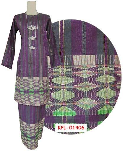 Baju kurung pahang purple grey