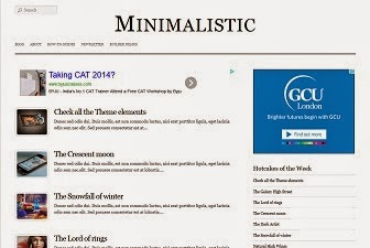 Minimalistic Responsive Blogger Template