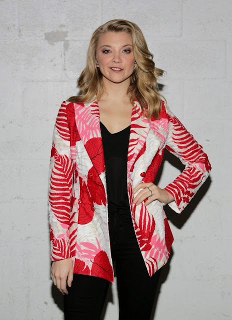 Actress, @ Natalie Dormer visits Despierta America' to promote the Film The Forest in Miami