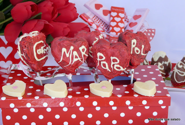 Cake Pops Para San Valentín