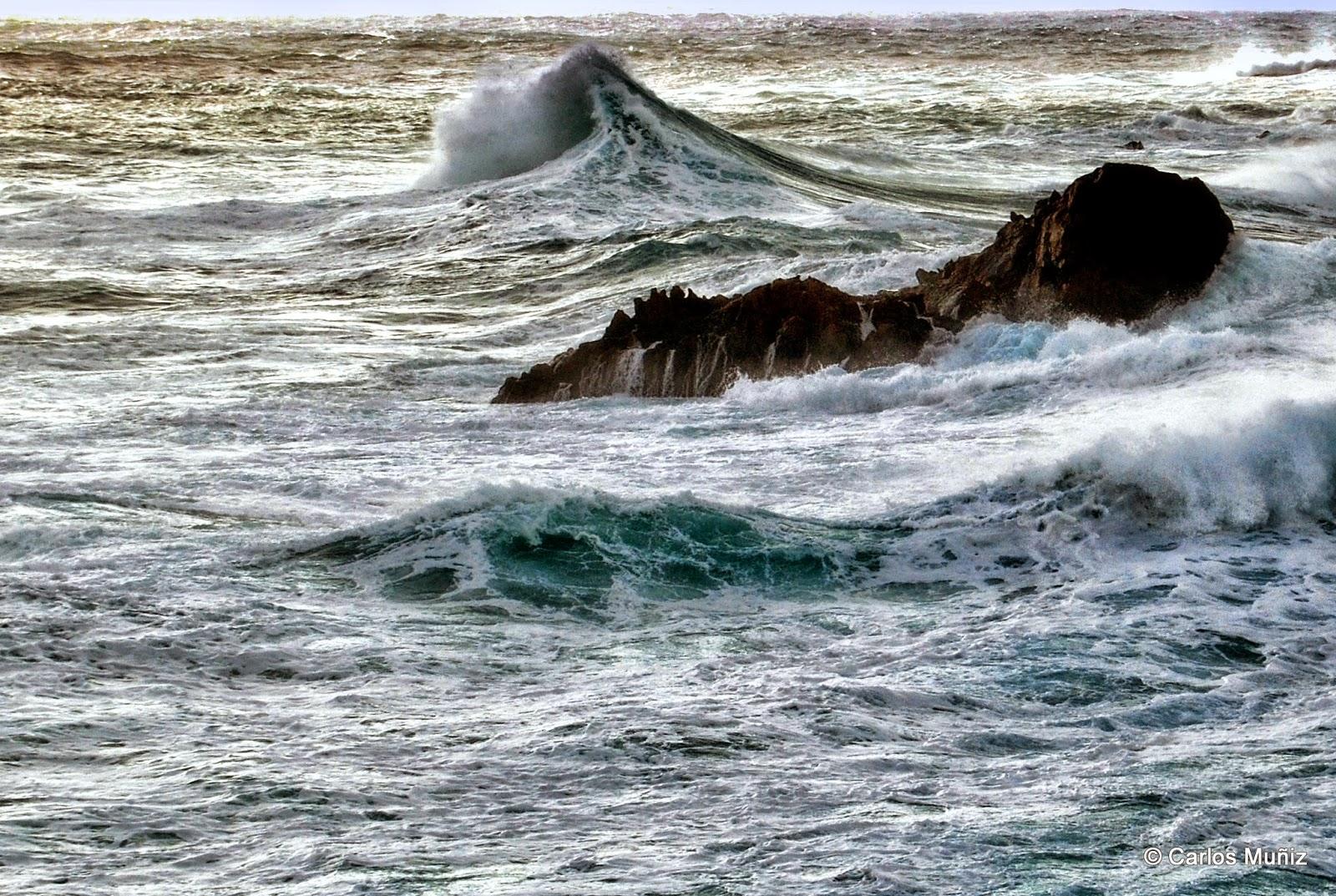 mar, temporal, Islas Gabeiras 3 (Doniños)