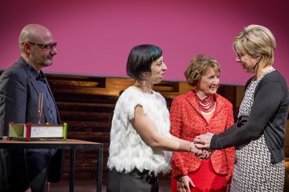 Princess Laurentien of The Netherlands and Princess Astrid and daughter, Lili Rosboch von Wolkenstein of Belgium, Princess Margriet, President of European Cultural Foundation (ECF)