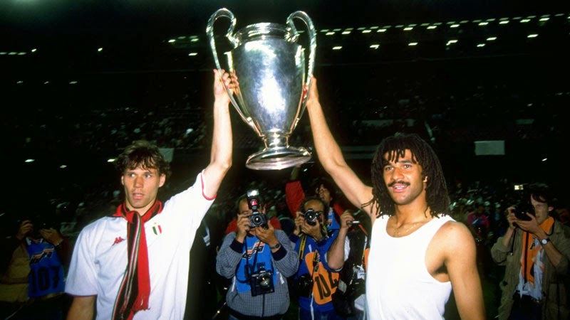 1989 European Cup Final - AC Milan v Steaua - Marco van Basten and Ruud Gullit