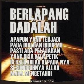 DP BBM Islami: Berserah Dan Pasrah Kepada Allah
