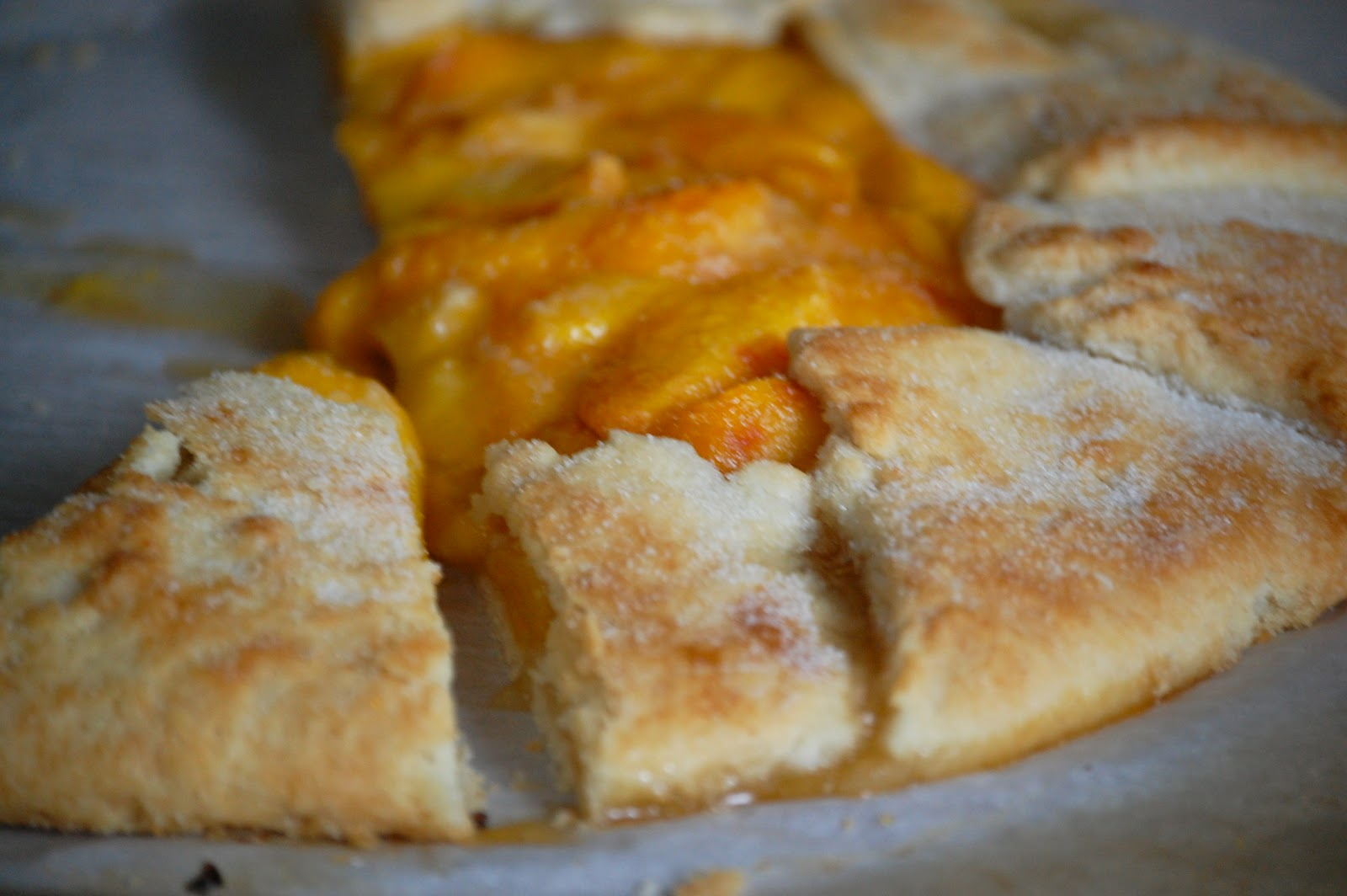 Heritage schoolhouse fresh peach galette for 1 tablespoon of butter