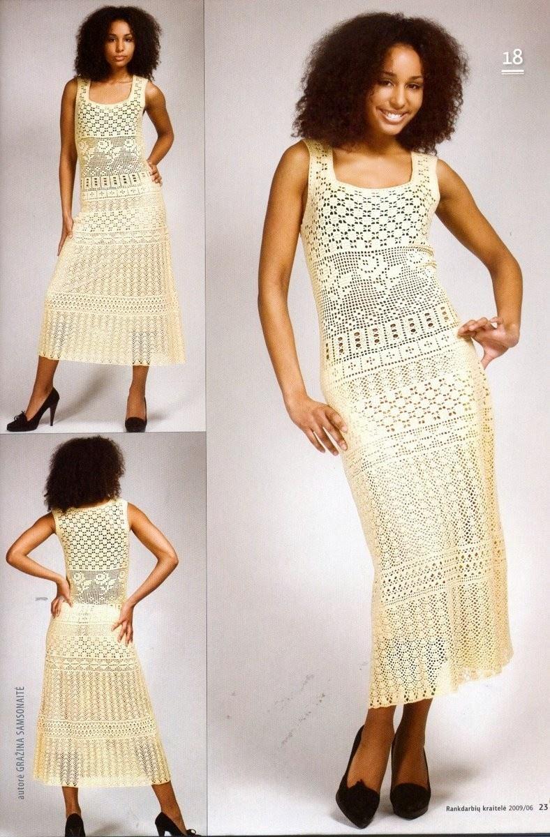 Вязание женщинам крючком для лета платьев